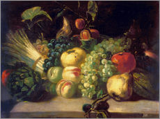 Sticker mural  Nature morte aux fruits et légumes - Theodore Gericault