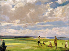 Poster  Lady Astor jouant au golf sur North Berwick - Sir John Lavery