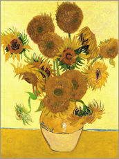 Sticker mural  Vase avec quinze tournesols  - Vincent van Gogh