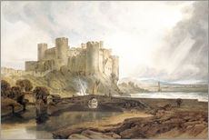 Sticker mural  Château de Conwy, vers 1802 - Joseph Mallord William Turner