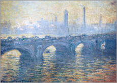 Sticker mural  Pont de Waterloo - Claude Monet