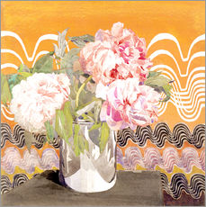 Sticker mural  Pivoines - Charles Rennie Mackintosh