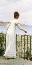 Sticker mural  A Favour, 1898 - Edmund Blair Leighton