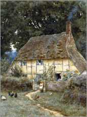 Sticker mural  On the Brook Road, near Witley - Helen Allingham