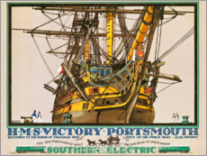 Tableau sur toile  H.M.S. Victory, Portsmouth - Kenneth Shoesmith
