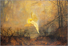 Tableau en plexi-alu  Midsummer Night, or 'Iris', 1876 - John Atkinson Grimshaw