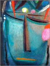 Tableau en plexi-alu  Face of Christ, Crown of Thorns - Alexej von Jawlensky