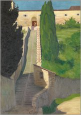 Sticker mural  The Steps of the Convent of San Marco, Perugia, 1913 - Felix Edouard Vallotton