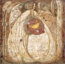 Tableau en plexi-alu  Le cœur de la rose - Margaret MacDonald Mackintosh