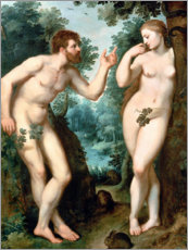 Poster Adam and Eve under the Tree of Knowledge