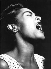 Sticker mural  Billie Holiday