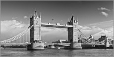 Sticker mural  Tower Bridge en noir et blanc - Melanie Viola
