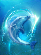 Tableau en plexi-alu  Dolphin Energy - Dolphins DreamDesign