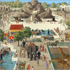 Sticker mural  At the Zoo - Ronald Lampitt