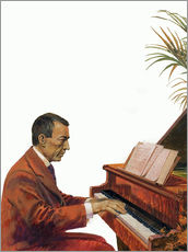 Sticker mural  Rachmaninoff playing the piano - Andrew Howat