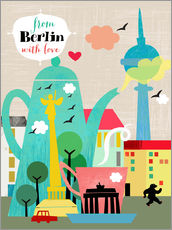 Sticker mural  From Berlin with love - Elisandra Sevenstar