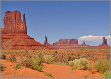 Tableau en plexi-alu  Monument Valley I - Melanie Viola