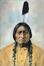 Sticker mural  Sitting Bull - David F. Barry