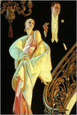 Sticker mural  Couple en tenue de soirée - Joseph Christian Leyendecker