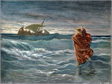 Tableau en plexi-alu  Jesus Walk On Water - Gustave Doré