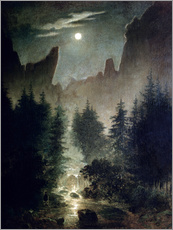 Sticker mural  Uttewalder Grund - Caspar David Friedrich