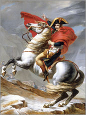 Tableau en plexi-alu  Bonaparte franchissant le Grand-Saint-Bernard - Jacques-Louis David