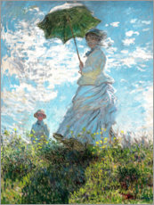 Sticker mural  Femme au parasol, Madame Monet et son fils - Claude Monet