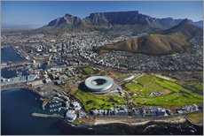 Tableau en plexi-alu  Cape Town Stadium et Table Mountain - David Wall