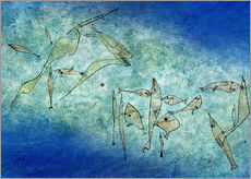 Sticker mural  Fish image - Paul Klee