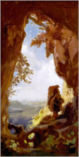 Tableau en plexi-alu  Gnome regardant le train - Carl Spitzweg