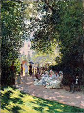 Sticker mural  Le Parc Monceau - Claude Monet