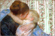 Sticker mural  The Goodnight Kiss - Mary Stevenson Cassatt