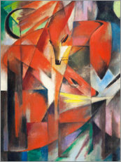 Sticker mural  Renards - Franz Marc
