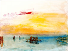 Poster  Venise, vue de Fusina - Joseph Mallord William Turner