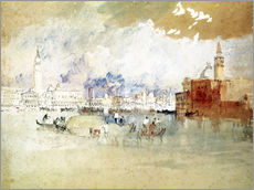 Sticker mural  Venise vue depuis la lagune - Joseph Mallord William Turner