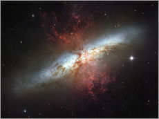 Sticker mural  Starburst galaxy, Messier 82 - Stocktrek Images