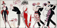 Sticker mural  Tango - Georges Barbier