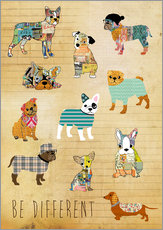 Tableau en plexi-alu  Be different, chiens - GreenNest