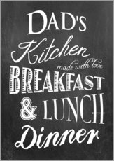 Tableau en plexi-alu  Dad's Kitchen - GreenNest