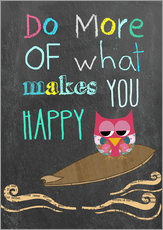 Sticker mural  Do more of what makes you happy - GreenNest