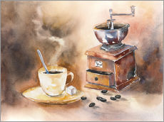 Tableau en plexi-alu  The smell of coffee - Jitka Krause