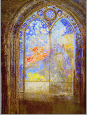 Sticker mural  Church window - Odilon Redon