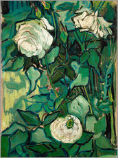 Sticker mural  Roses and Beetle - Vincent van Gogh