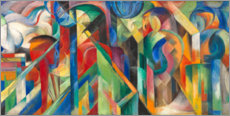 Poster  Stables - Franz Marc