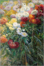 Sticker mural  Chrysanthèmes - Gustave Caillebotte