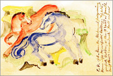 Sticker mural  Red and Blue Horses - Franz Marc