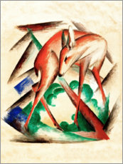 Poster  Deer (Red Deer) - Franz Marc