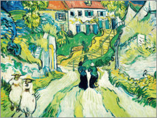 Tableau en plexi-alu  Stairway at Auvers - Vincent van Gogh