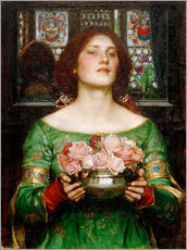 Sticker mural  Cueillir les boutons de rose en mai - John William Waterhouse