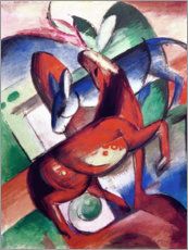 Tableau en PVC  Horse and donkey - Franz Marc